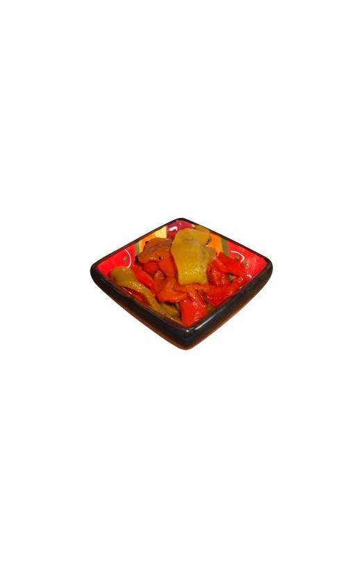 Grillede peberfrugter i strimler