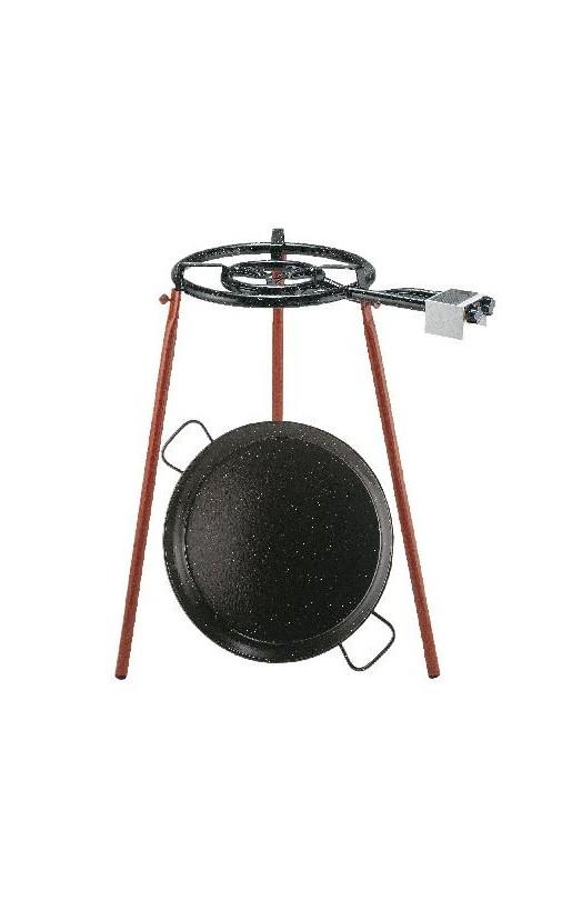 Brænde sæt med 2 ringe og ben + emalje pande